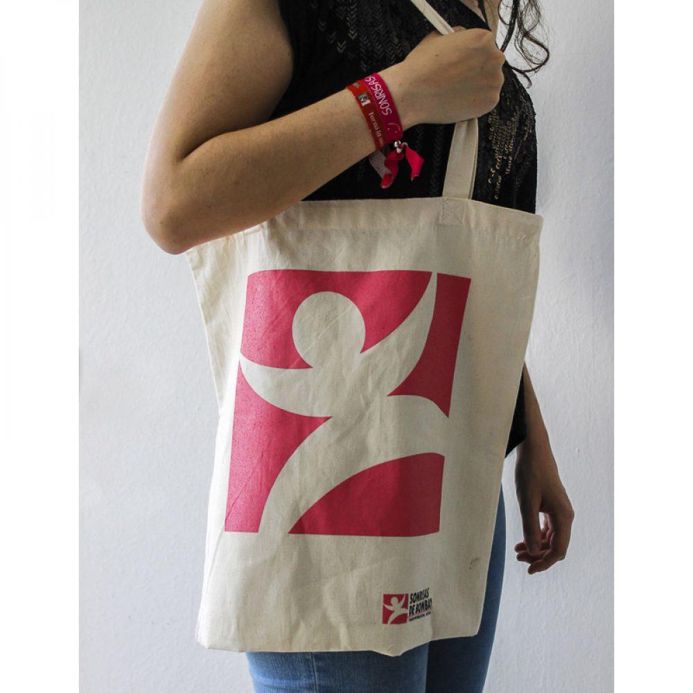 Bolsa de tela con logotipo de Sonrisas
