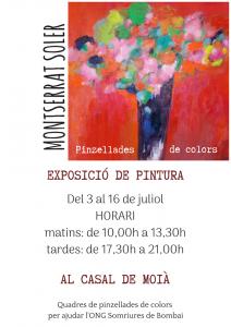 Nueva exposición solidaria de pintura de Montserrat Soler @ Casal de Moià