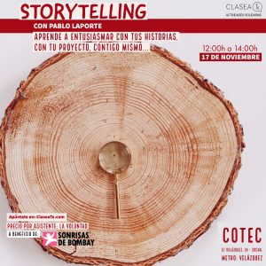 Taller de Storytelling en Madrid con ClaseaTe y Pablo Laporte @ Fundación COTEC | Madrid | Comunidad de Madrid | España