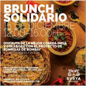 Brunch solidario Surya Muntaner (Barcelona) @ Surya Restaurante Muntaner | Barcelona | Catalunya | España