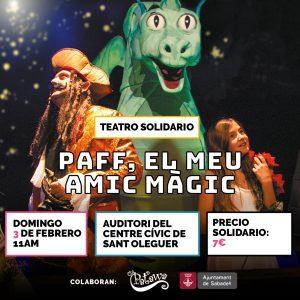 """""""PAFF, EL MEU AMIC MÀGIC"""", Teatro solidario en Sabadell @ Auditori del Centre Cívic de Sant Oleguer"""