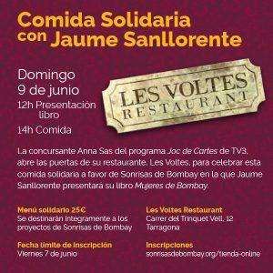 Comida Solidaria- Les Voltes Restaurant- Tarragona @ Les Voltes Restaurant