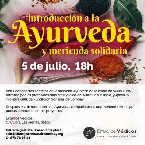 Introducción al Ayurveda y merienda solidaria @ Estudios Védicos