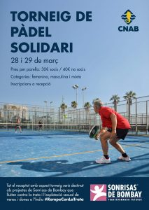 Torneo de pádel solidario en el Club Natació Atlètic-Barceloneta (CNAB) -POSTPUESTO- @ Club Natació Atlètic-Barceloneta (CNAB)