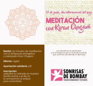 Meditación con Kiran Chugani