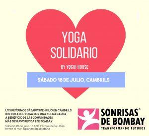 Los sábados del mes de julio, yoga solidario en Cambrils @ Parque de la Llosa