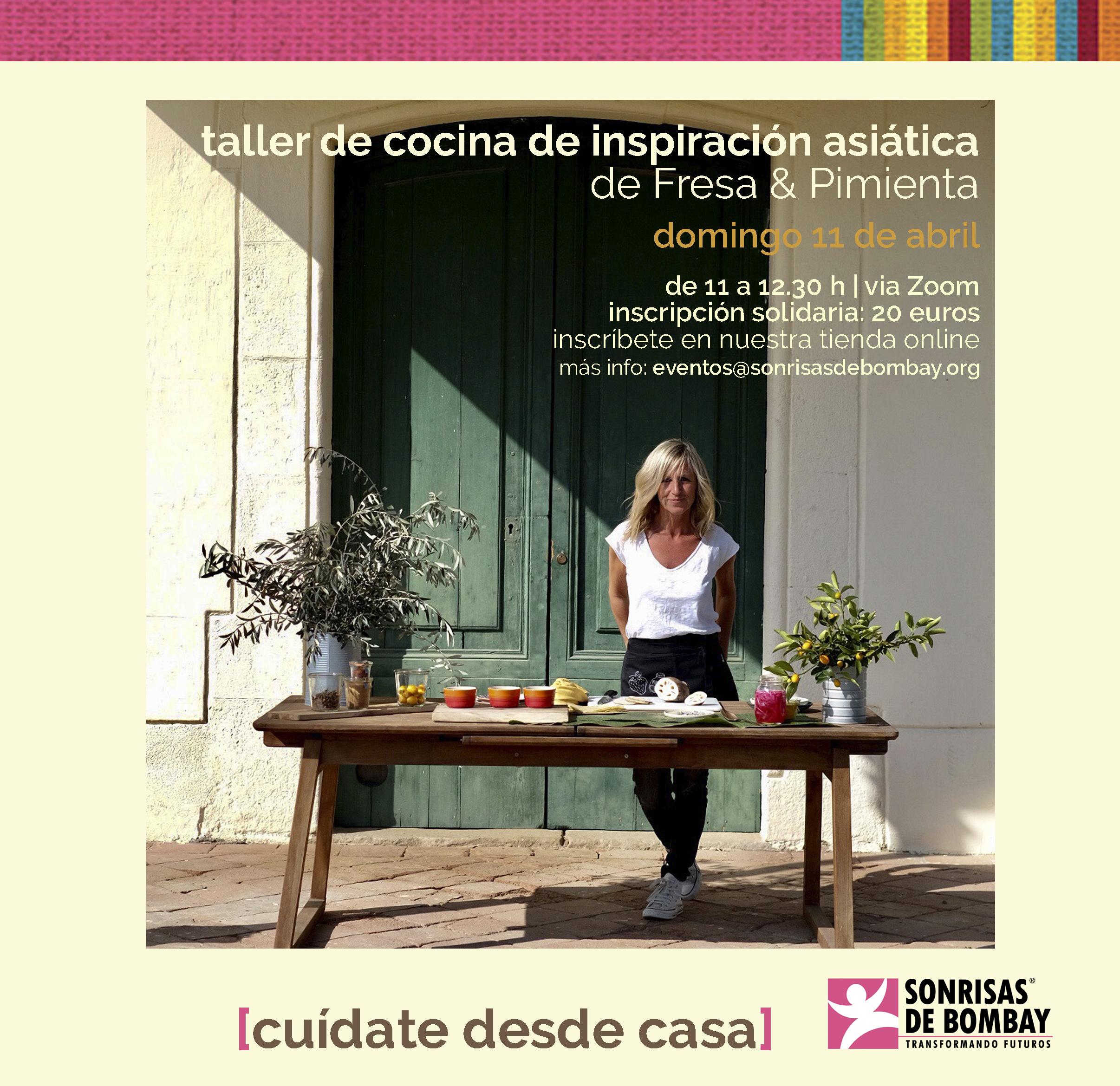 Taller de cocina de inspiración asiática de Fresa & Pimienta