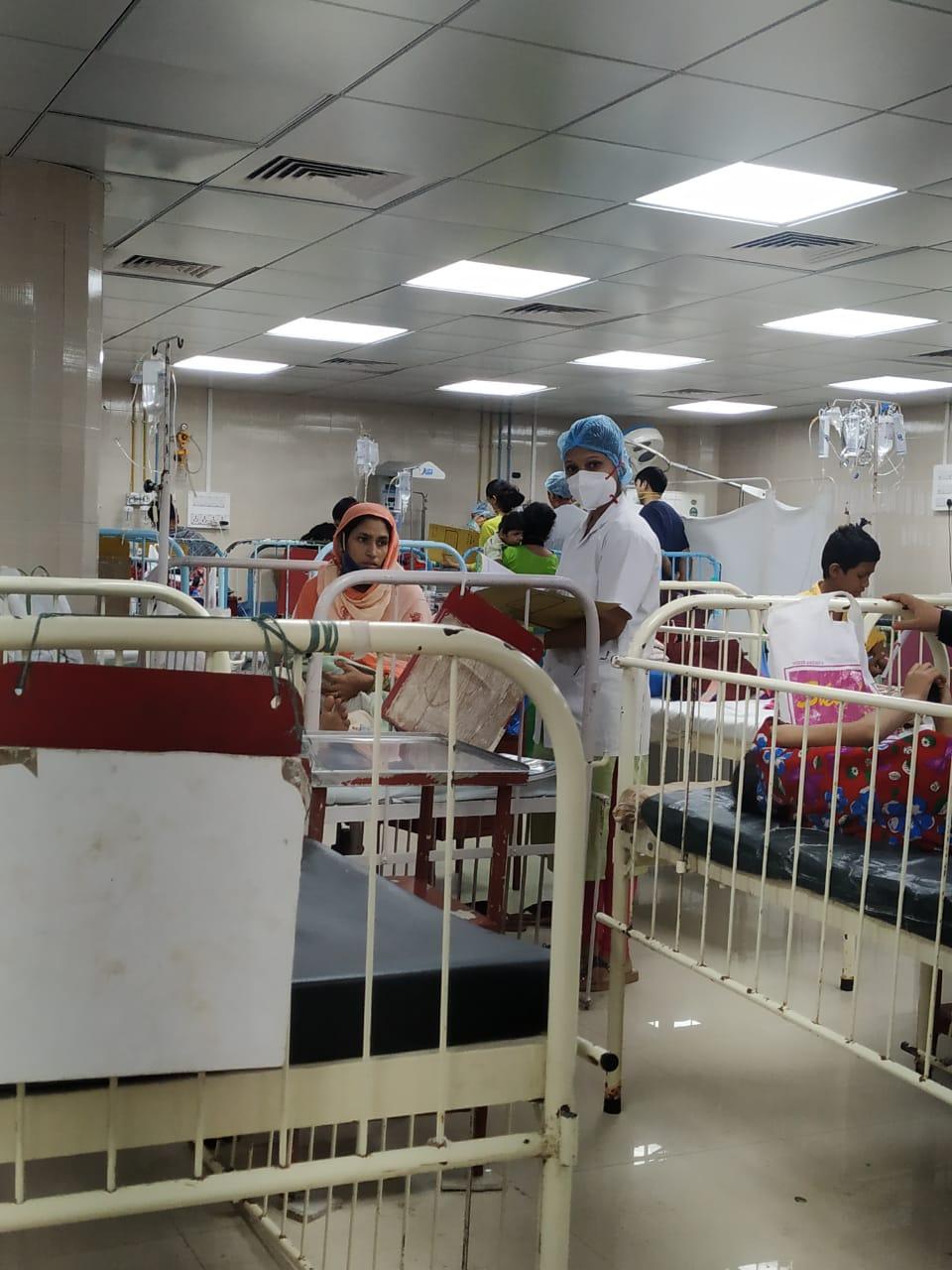 Sonali trabajando en el Sion Hospital